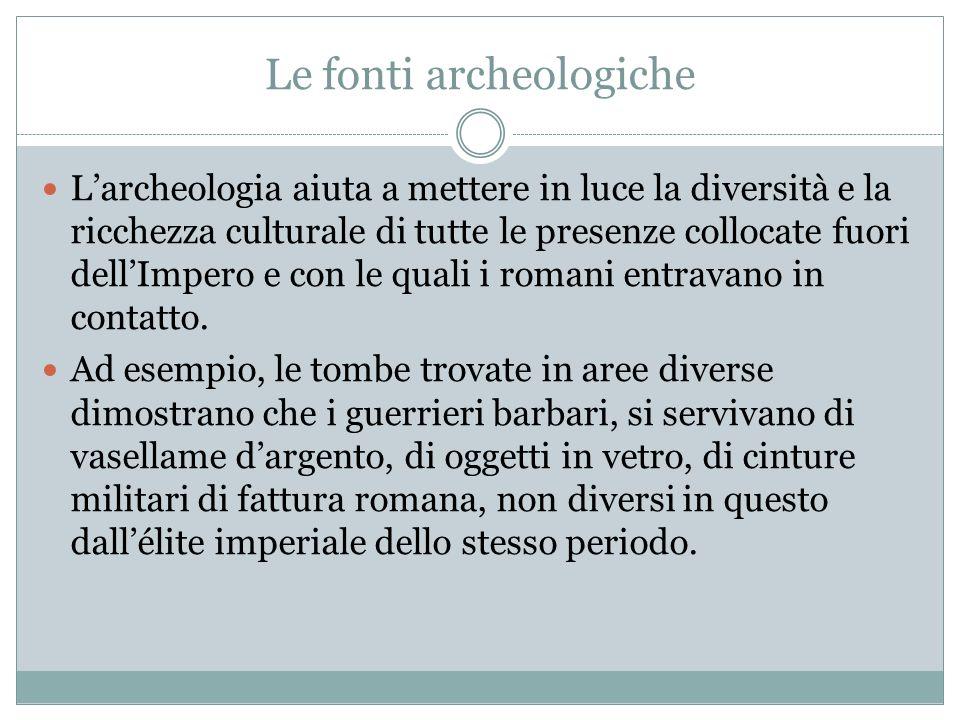 Le fonti archeologiche