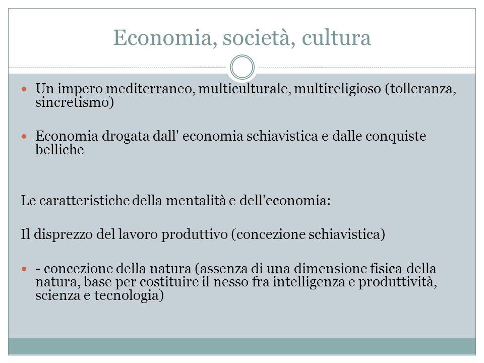 Economia, società, cultura