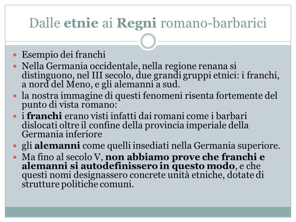 Dalle etnie ai Regni romano-barbarici