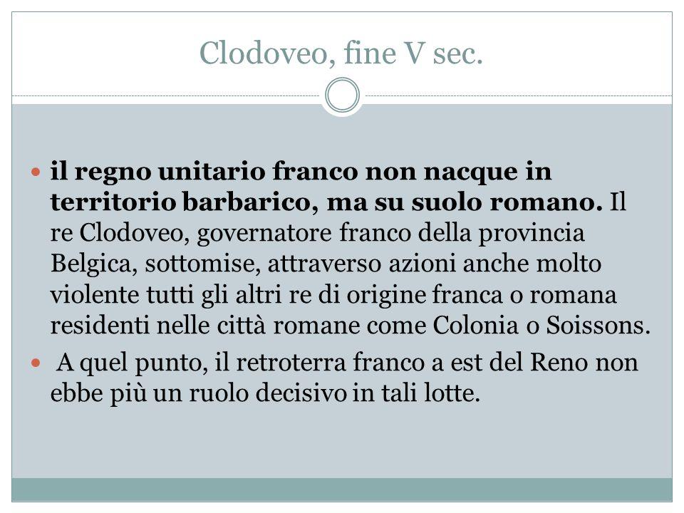 Clodoveo, fine V sec.