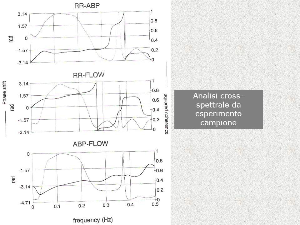 Analisi cross-spettrale da esperimento campione