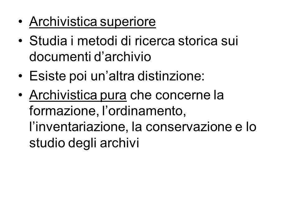 Archivistica superiore