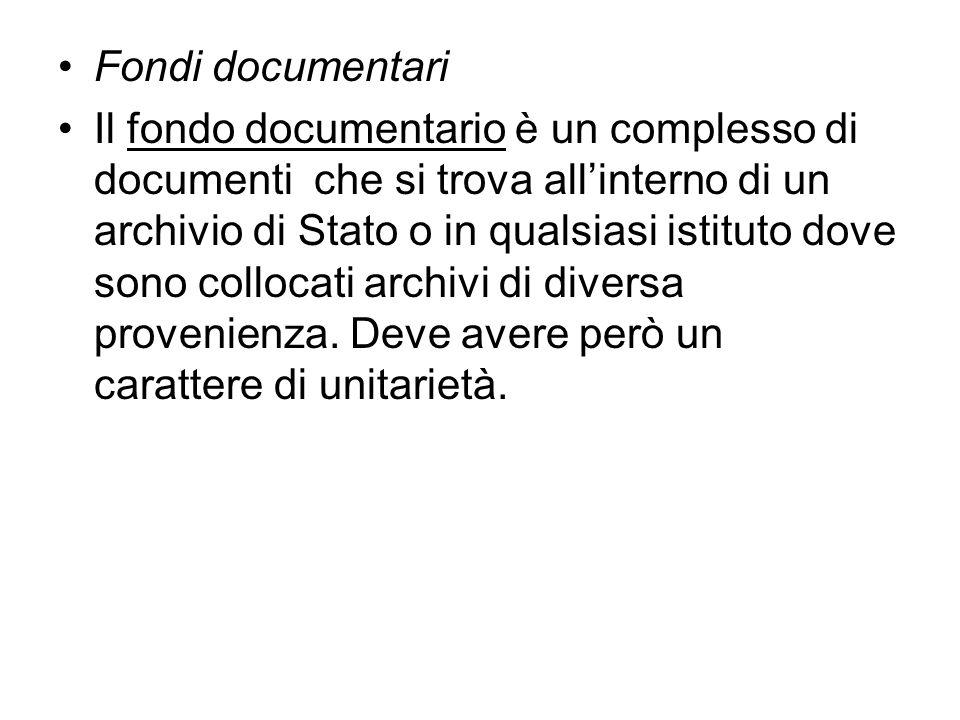 Fondi documentari