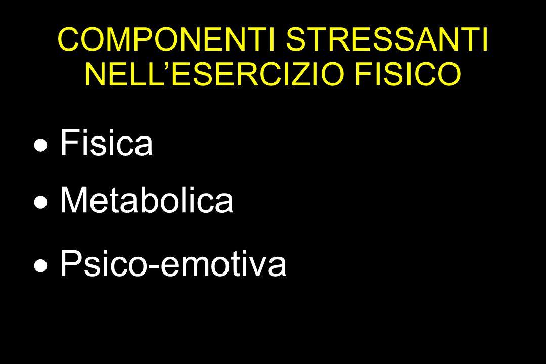 COMPONENTI STRESSANTI NELL'ESERCIZIO FISICO