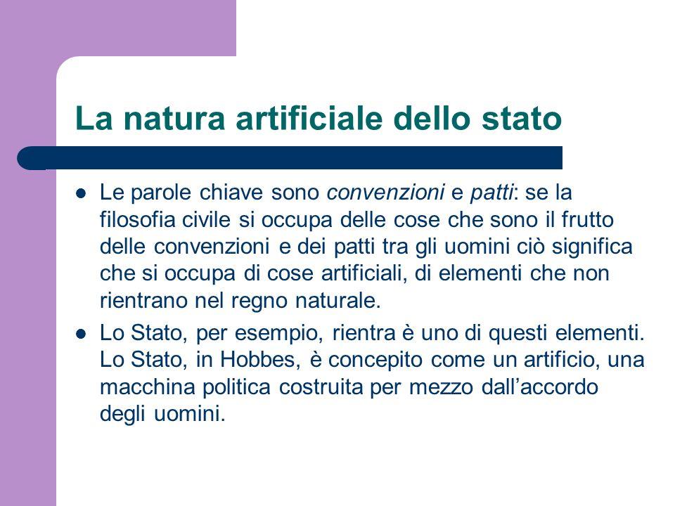 La natura artificiale dello stato