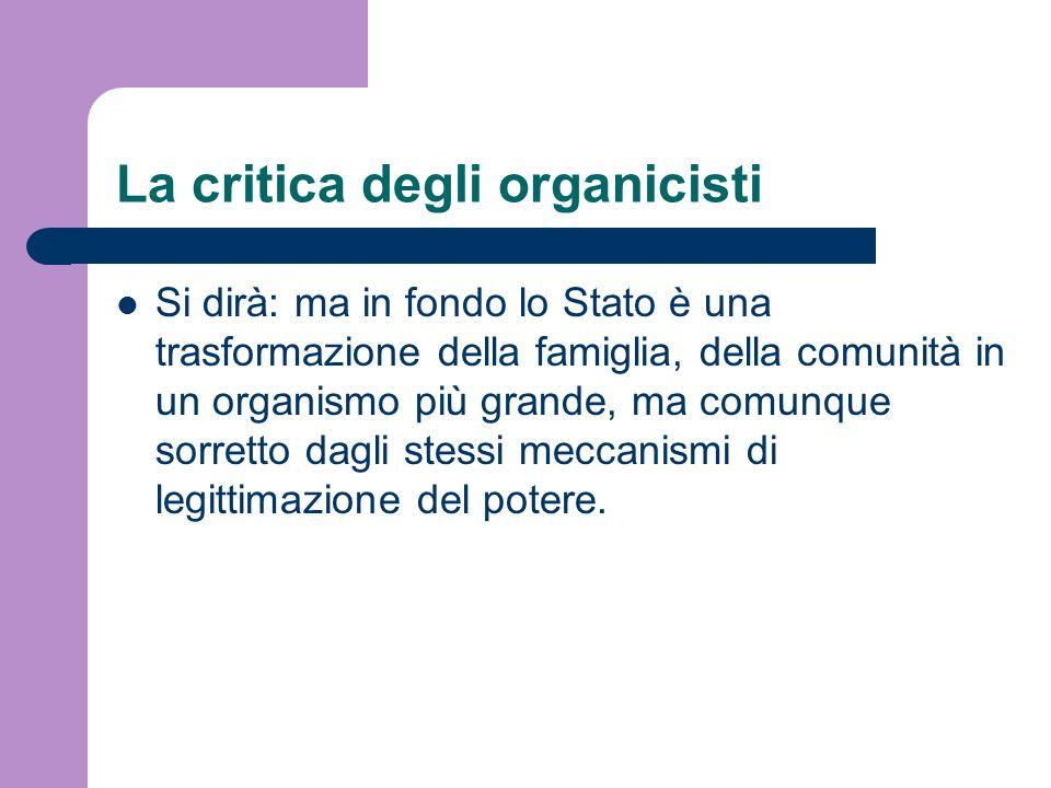 La critica degli organicisti