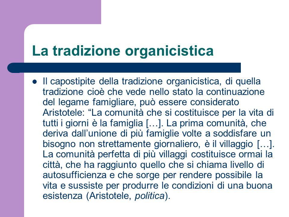 La tradizione organicistica
