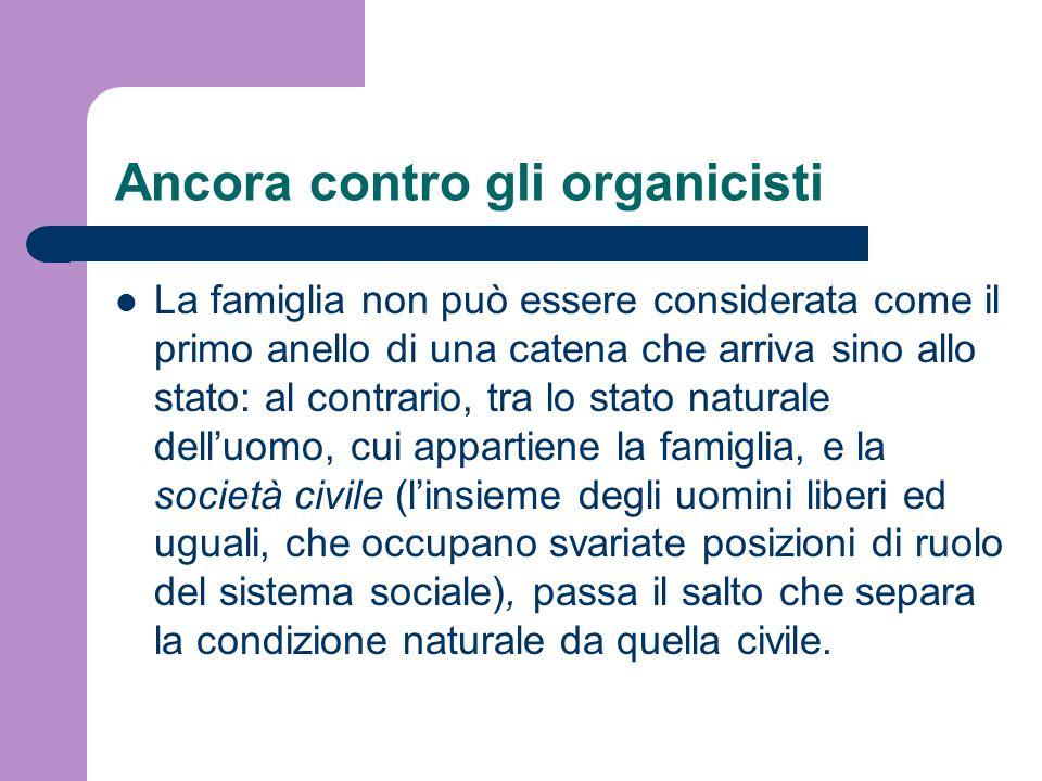 Ancora contro gli organicisti