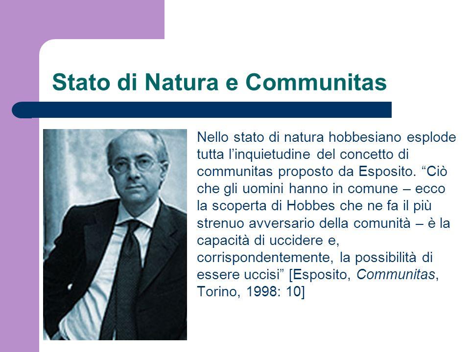 Stato di Natura e Communitas