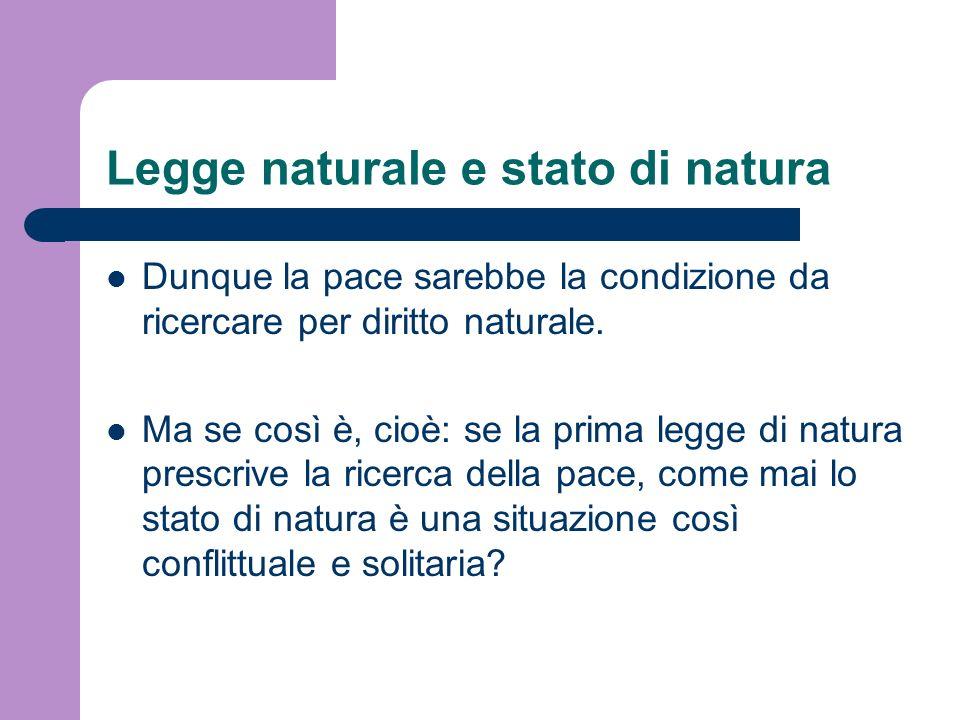 Legge naturale e stato di natura
