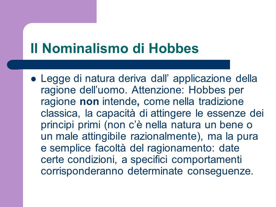Il Nominalismo di Hobbes