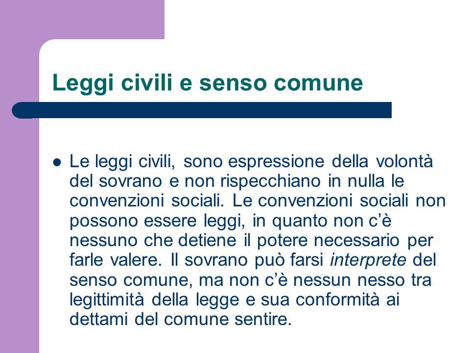 Leggi civili e senso comune