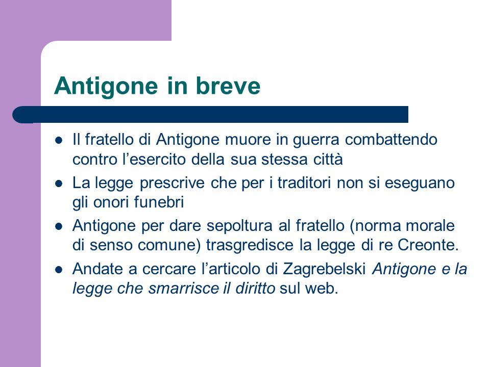 Antigone in breveIl fratello di Antigone muore in guerra combattendo contro l'esercito della sua stessa città.