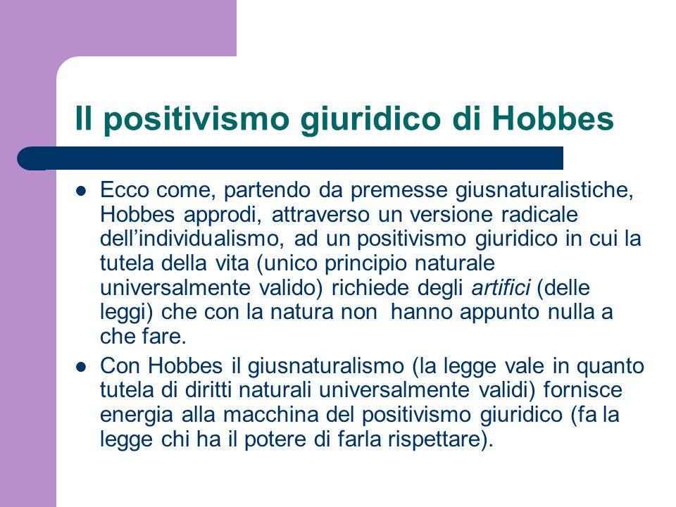 Il positivismo giuridico di Hobbes