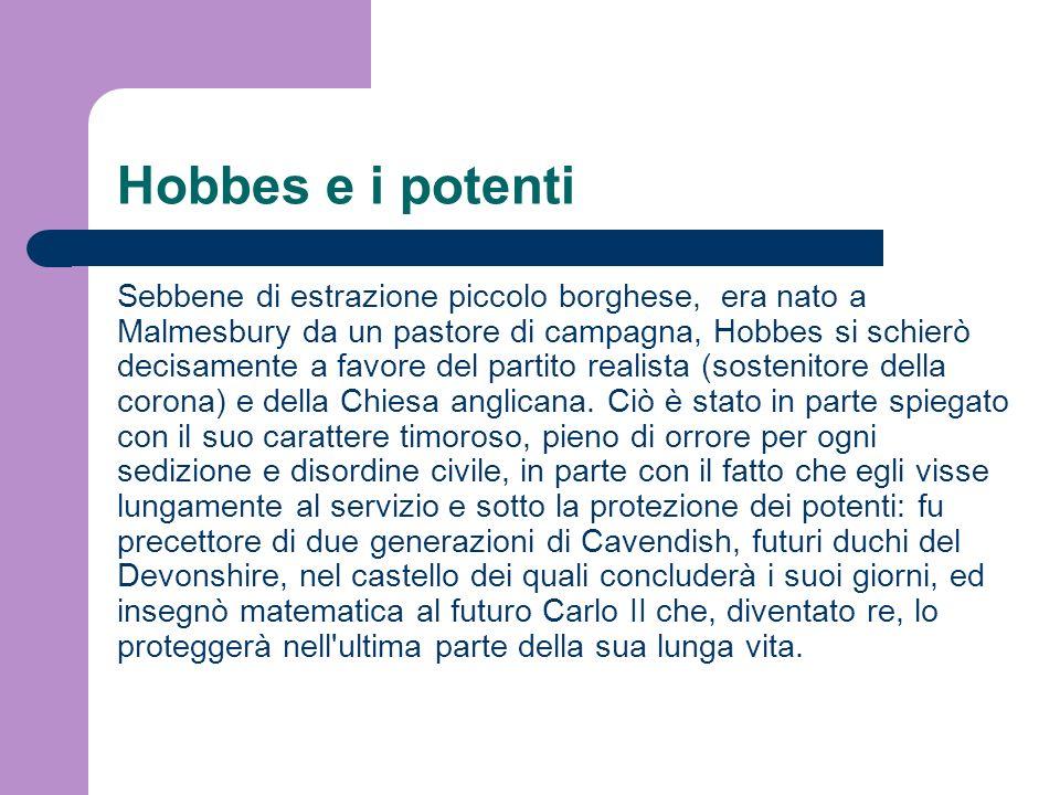 Hobbes e i potenti