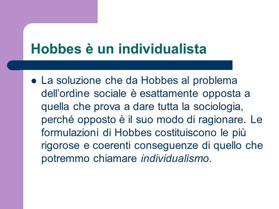 Hobbes è un individualista