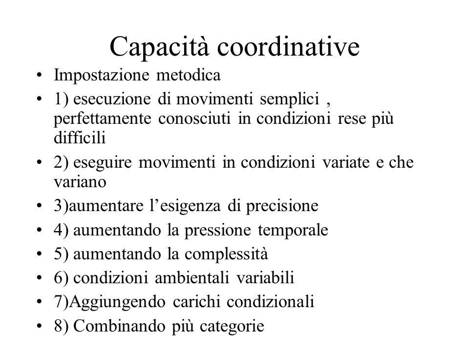 Capacità coordinative