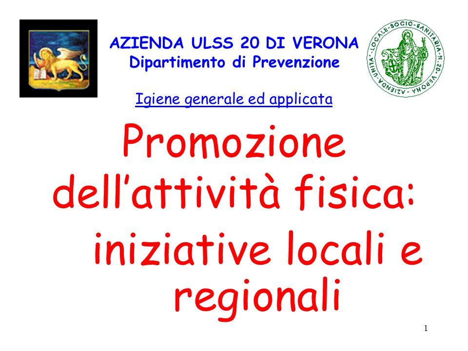Promozione dell'attività fisica: iniziative locali e regionali