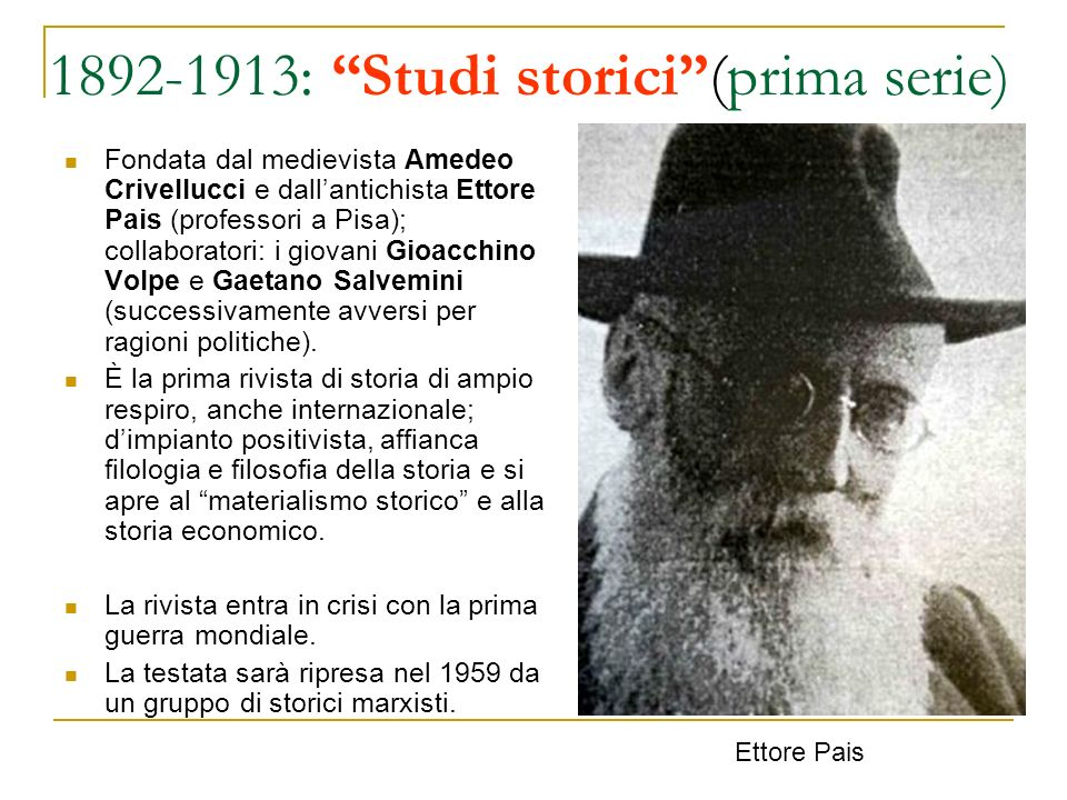 1892-1913: Studi storici (prima serie)
