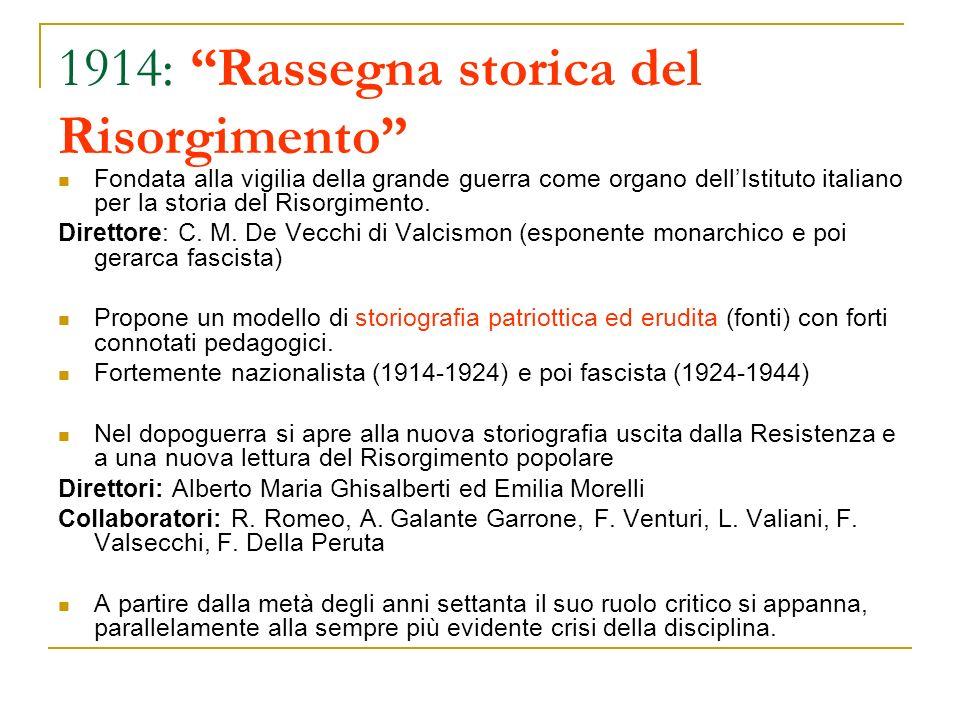 1914: Rassegna storica del Risorgimento