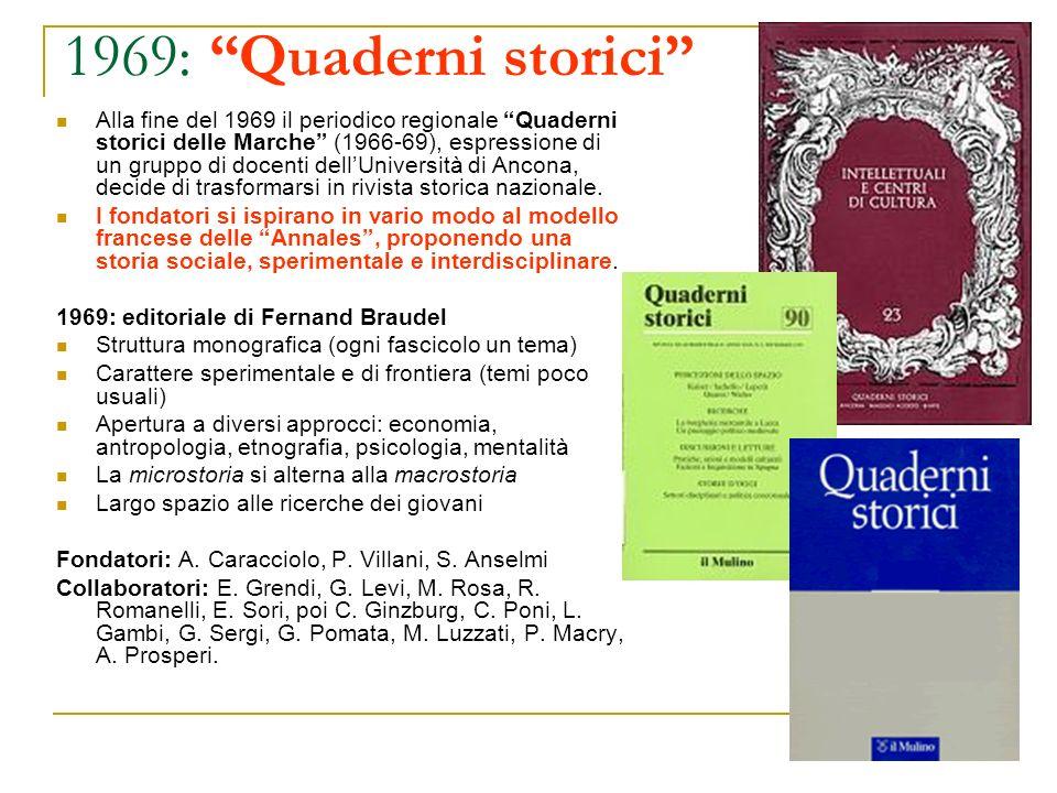 1969: Quaderni storici