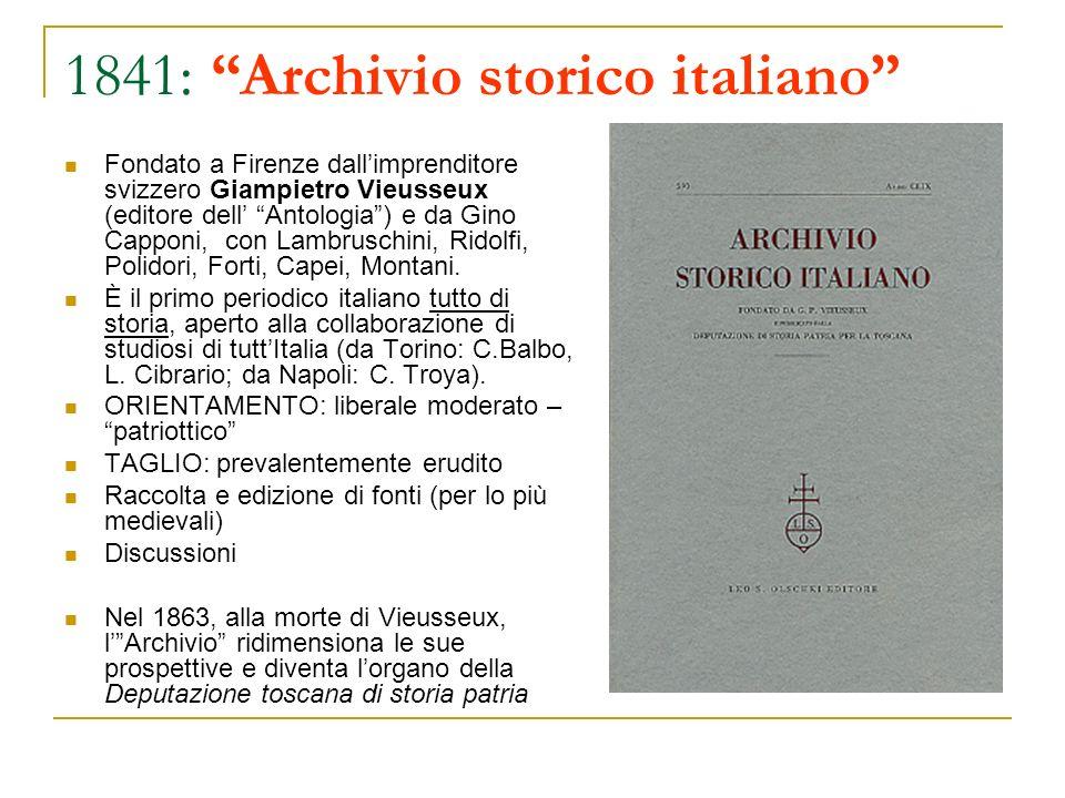 1841: Archivio storico italiano