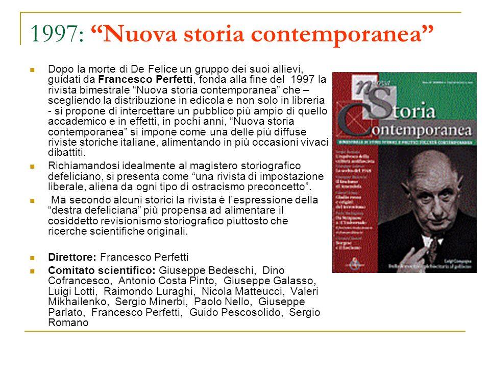 1997: Nuova storia contemporanea