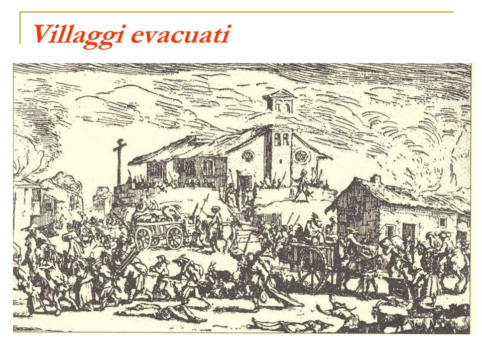 Villaggi evacuati