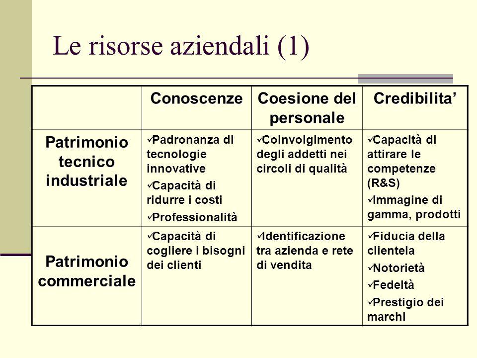 Le risorse aziendali (1)