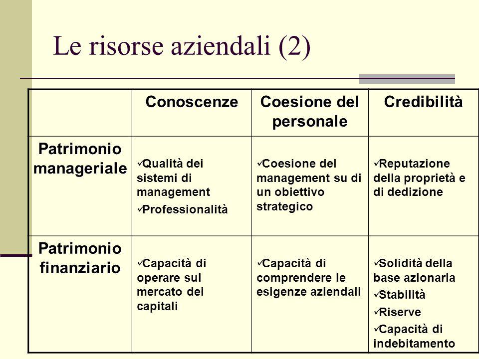 Le risorse aziendali (2)