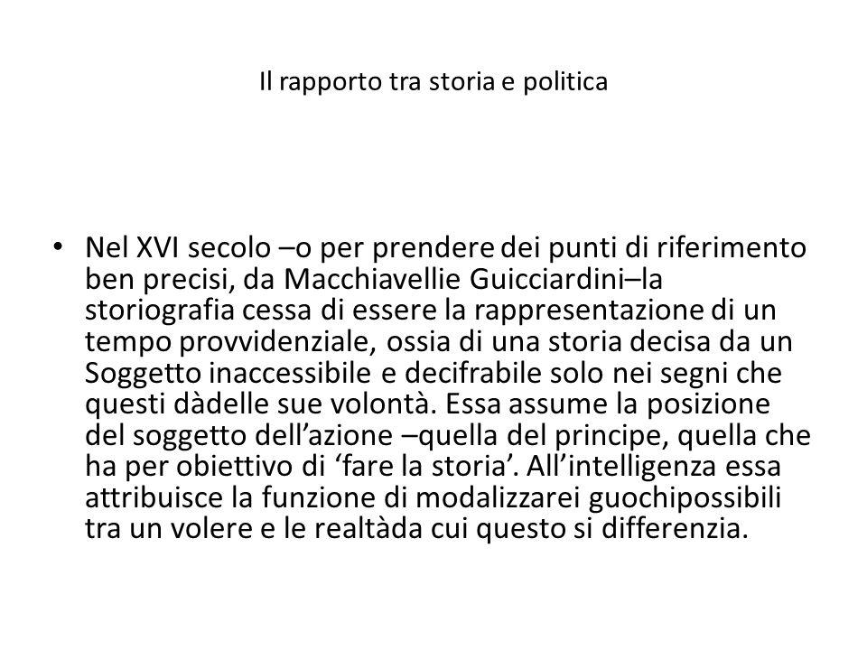 Il rapporto tra storia e politica