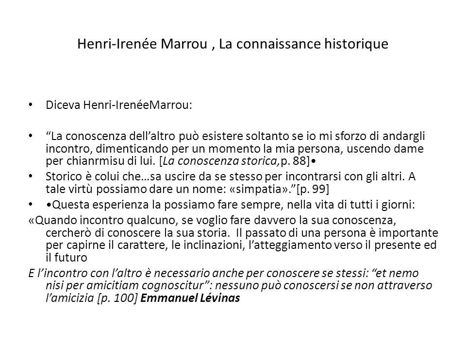 Henri-Irenée Marrou , La connaissance historique