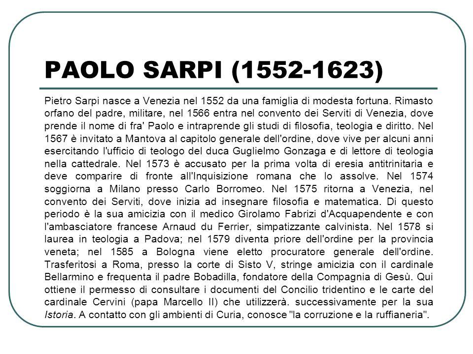 PAOLO SARPI (1552-1623)