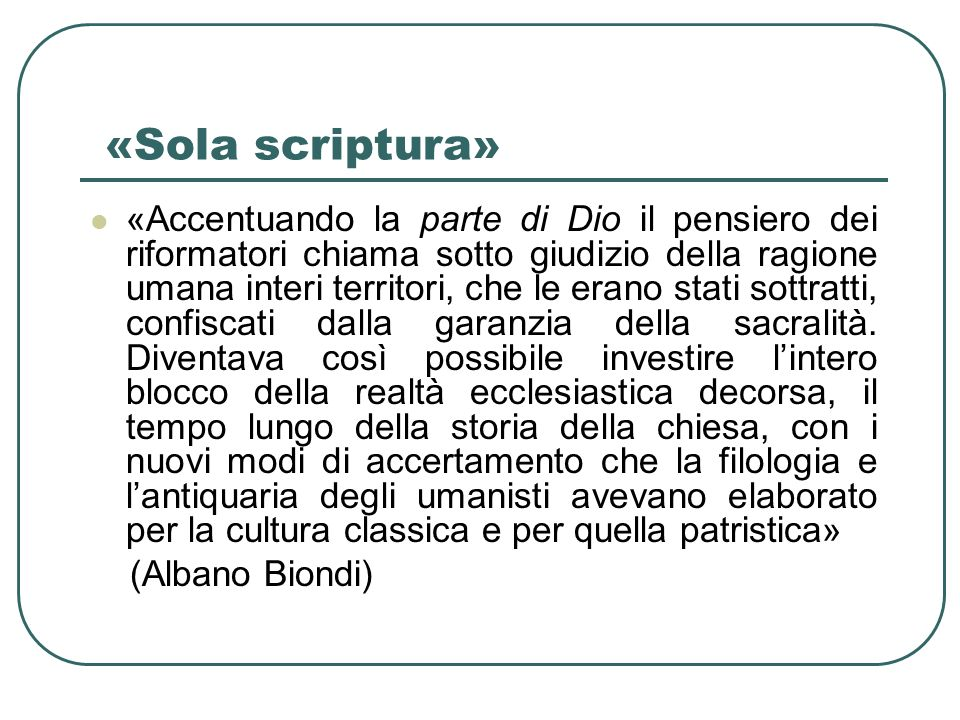 «Sola scriptura»
