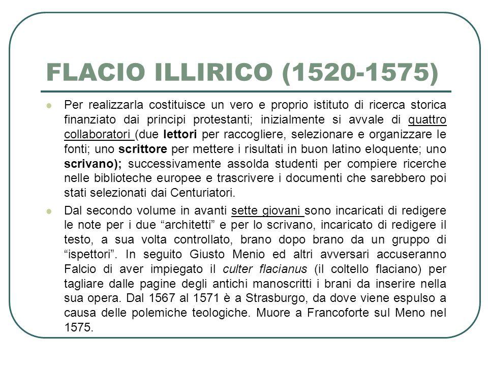 FLACIO ILLIRICO (1520-1575)