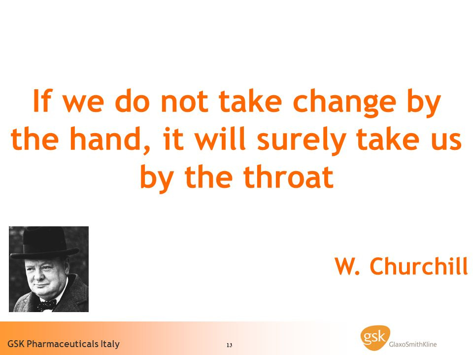 If we do not take change by the hand, it will surely take us by the throat