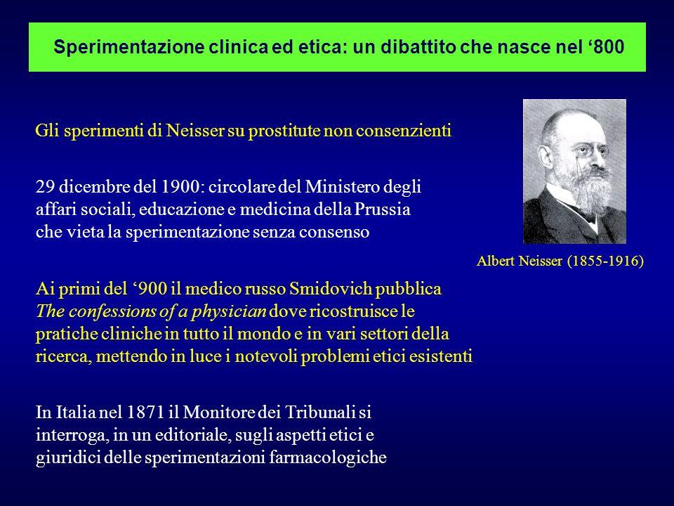 Sperimentazione clinica ed etica: un dibattito che nasce nel '800