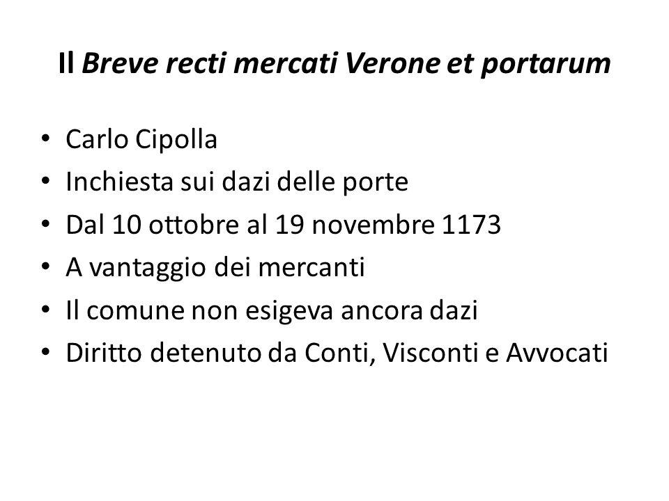 Il Breve recti mercati Verone et portarum