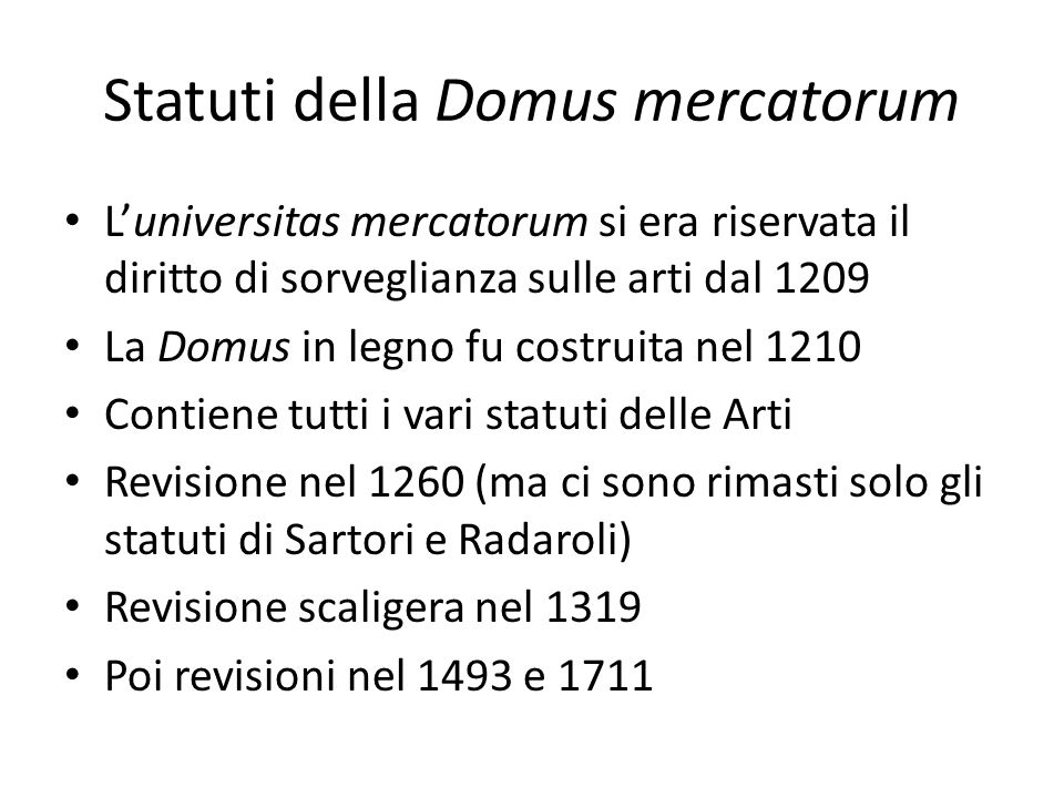 Statuti della Domus mercatorum