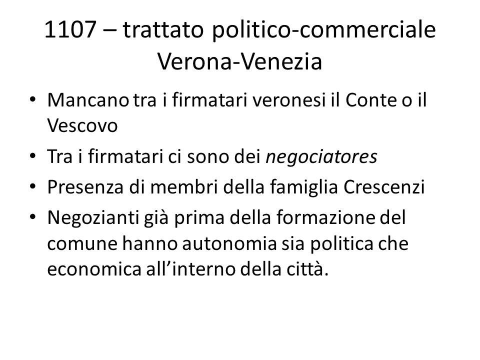 1107 – trattato politico-commerciale Verona-Venezia