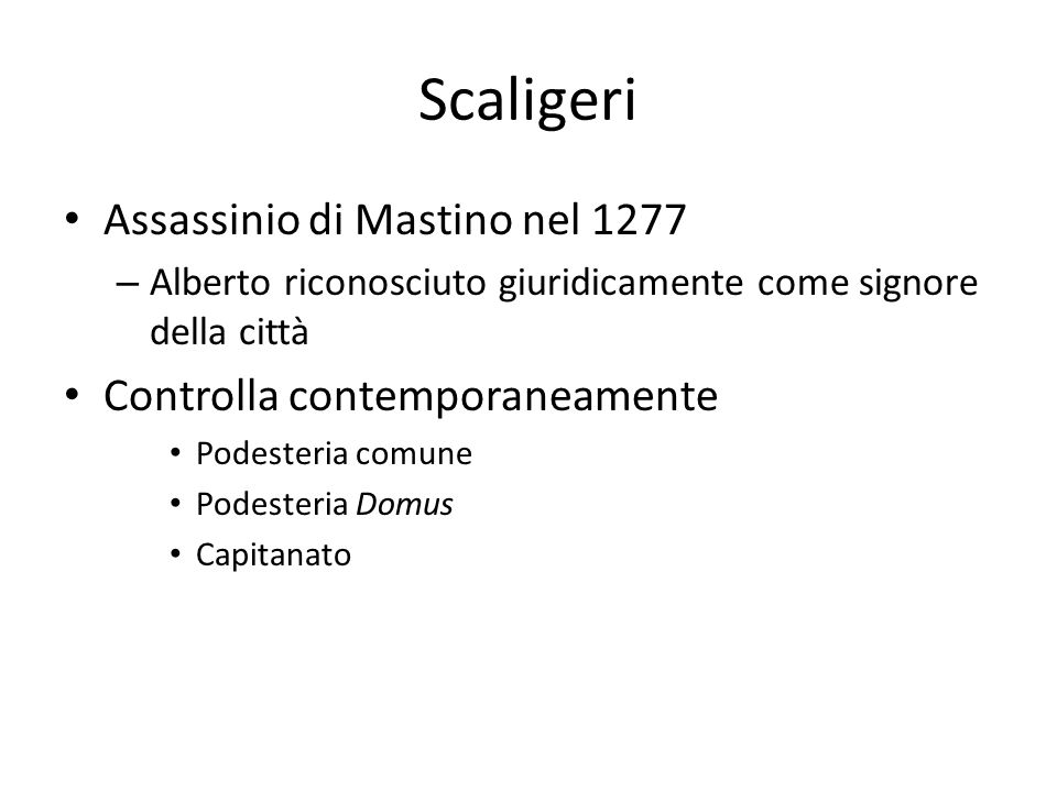 Scaligeri Assassinio di Mastino nel 1277 Controlla contemporaneamente
