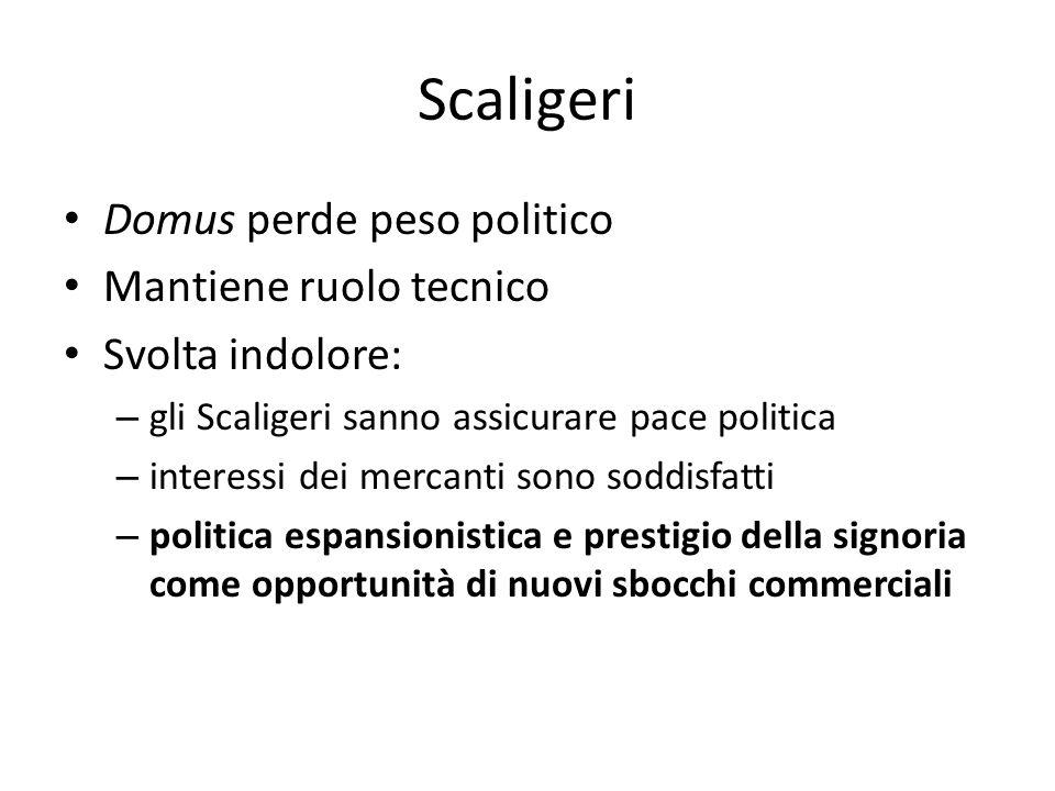 Scaligeri Domus perde peso politico Mantiene ruolo tecnico