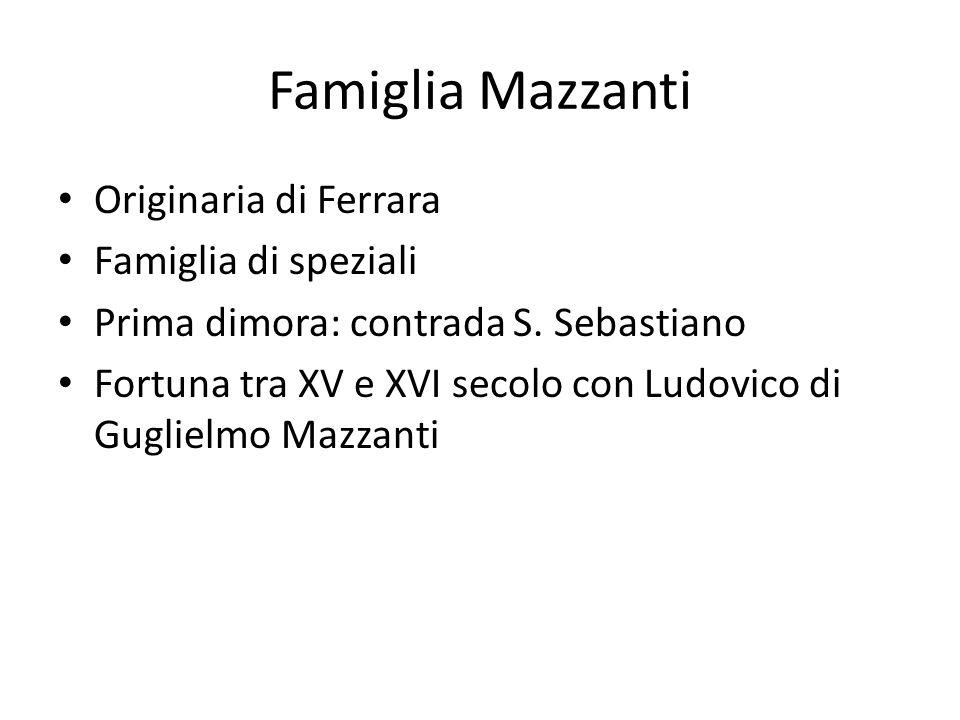 Famiglia Mazzanti Originaria di Ferrara Famiglia di speziali