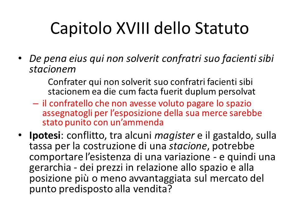 Capitolo XVIII dello Statuto
