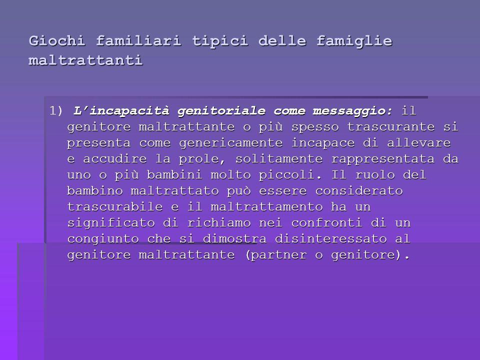 Giochi familiari tipici delle famiglie maltrattanti