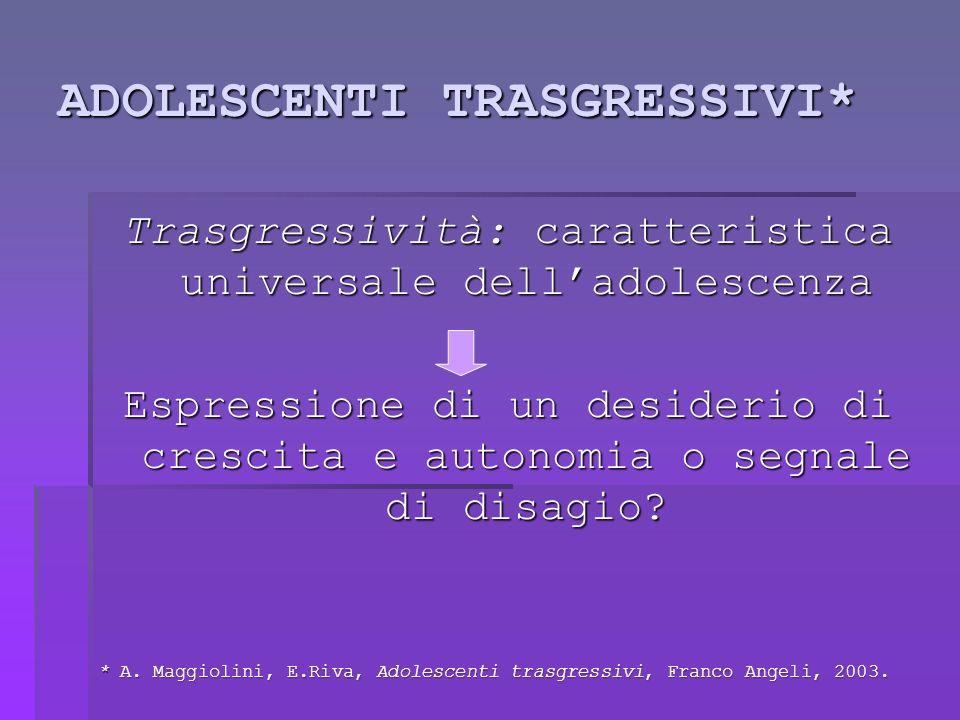 ADOLESCENTI TRASGRESSIVI*