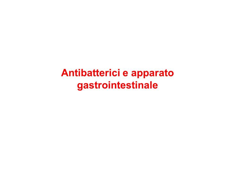 Antibatterici e apparato gastrointestinale