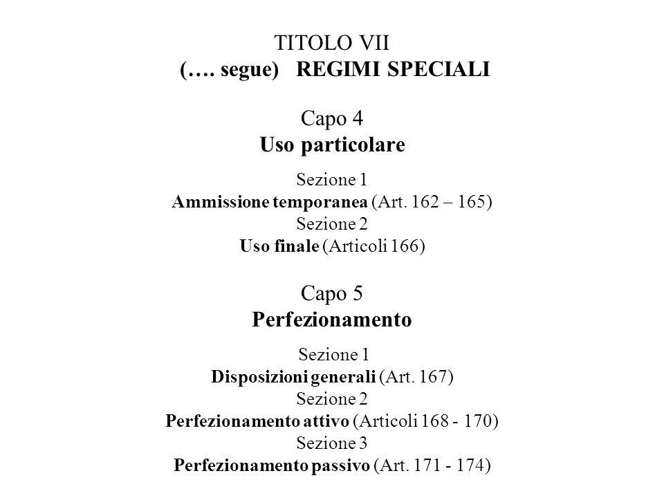 TITOLO VII (….