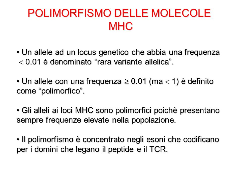 POLIMORFISMO DELLE MOLECOLE