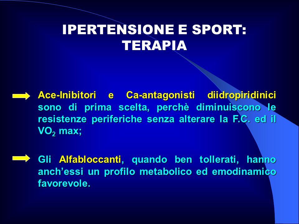IPERTENSIONE E SPORT: TERAPIA